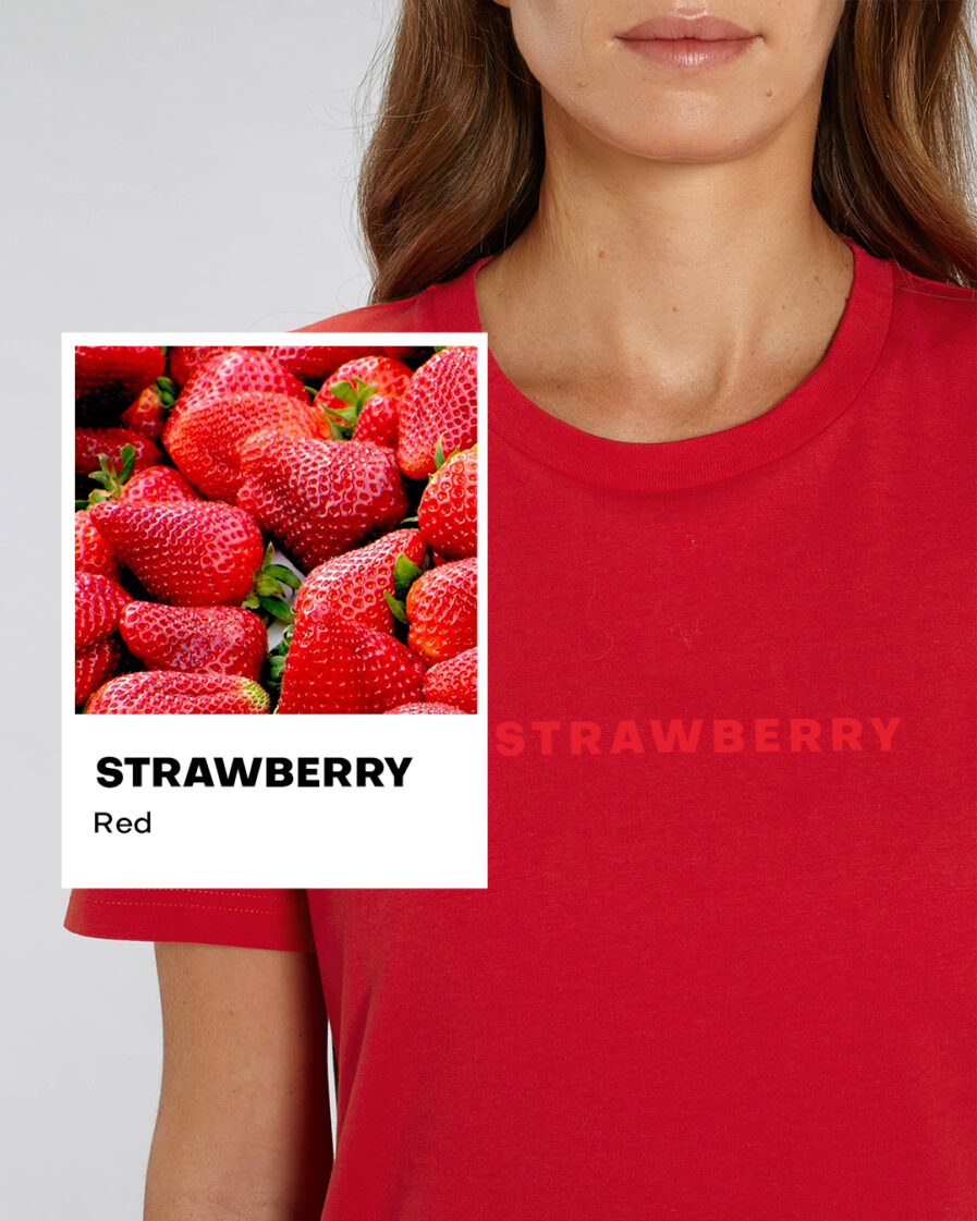 Strawberry Red Essential Organic Unisex Shirt