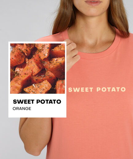 Sweet Potato Orange Essential Organic Unisex Shirt