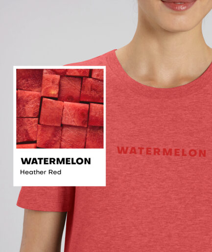 Watermelon Heather Red Basic Organic Unisex Shirt