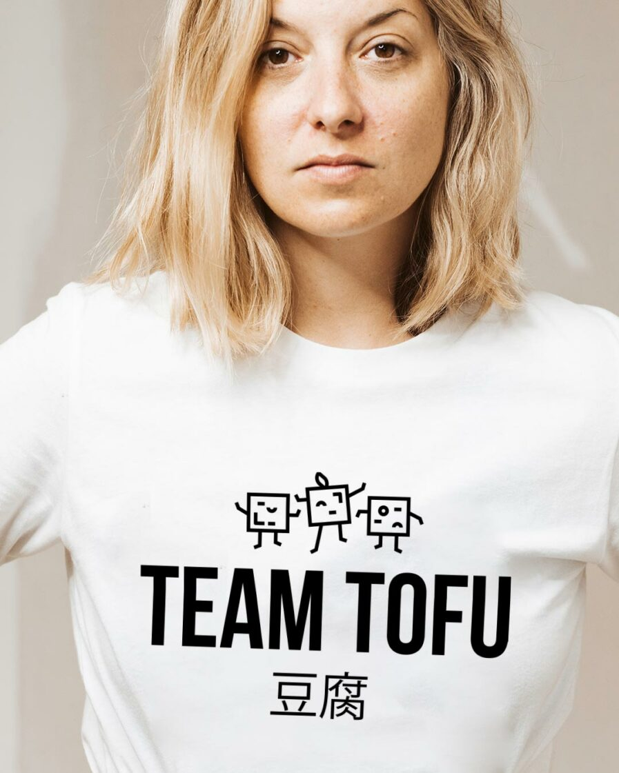 Team Tofu Ladies Organic Shirt Weiß
