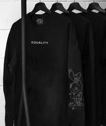 Equality Organic Sweatshirt schwarz