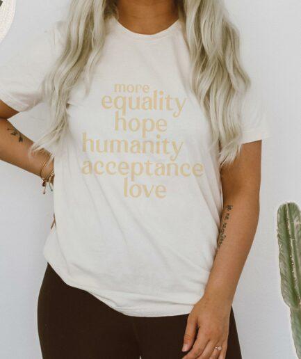 More Equality Ladies Organic Shirt