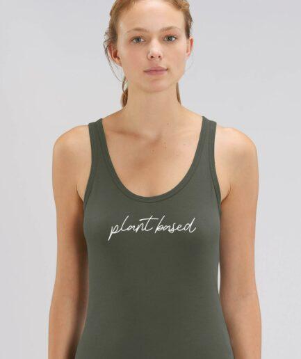 Plant Based Ladies Organic Tanktop khaki