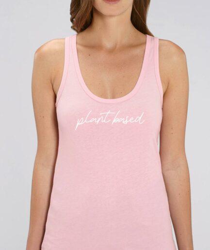 Plant Based Ladies Organic Tanktop pink