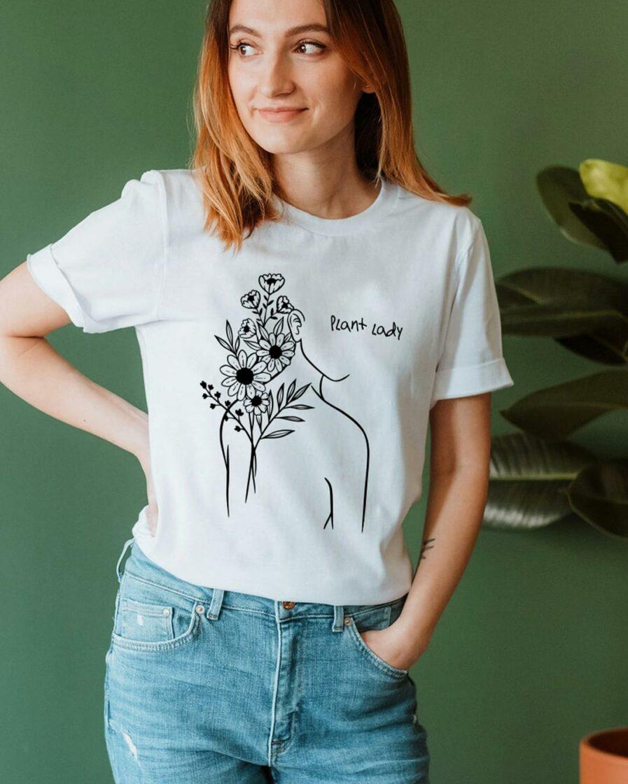 Plant Lady Ladies Organic Shirt