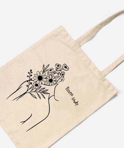 Plant Lady Organic Baumwolltasche Natural