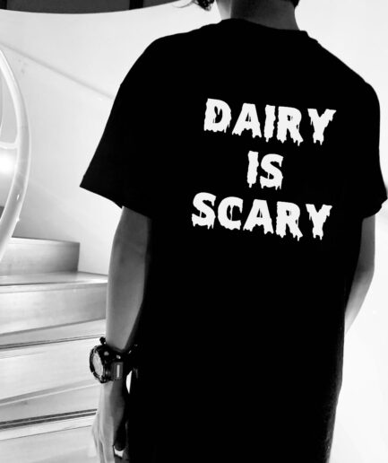 Dairy Is Scary Organic Shirt Back