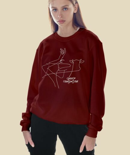 Choose Compassion Unisex Organic Sweatshirt