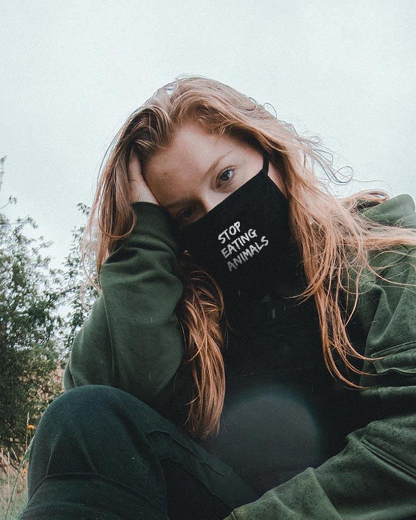 Fair Trade Masken mit vegan Statements