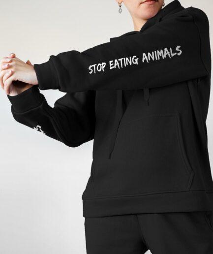 Stop Eating Animals Organic Hoodie