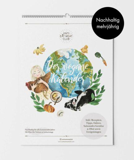 Veganer Wandkalender mehrjährig nachhaltig