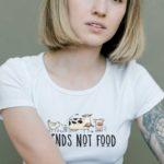 Friends Not Food Tailliertes Organic Shirt