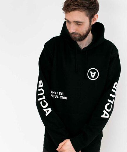 VCLUB-organic-hoodie-schwarz-front