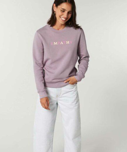 empathy-organic-sweatshirt-lila