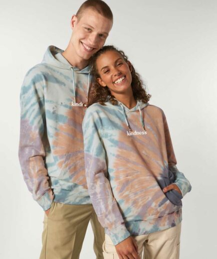 kindness-tie-dye-organic-hoodie