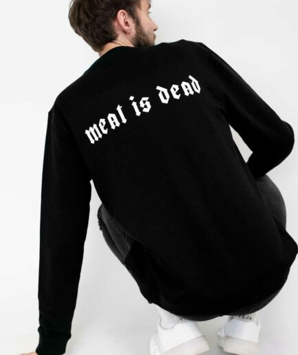 meat-is-dead-organic-sweatshirt-schwarz-back
