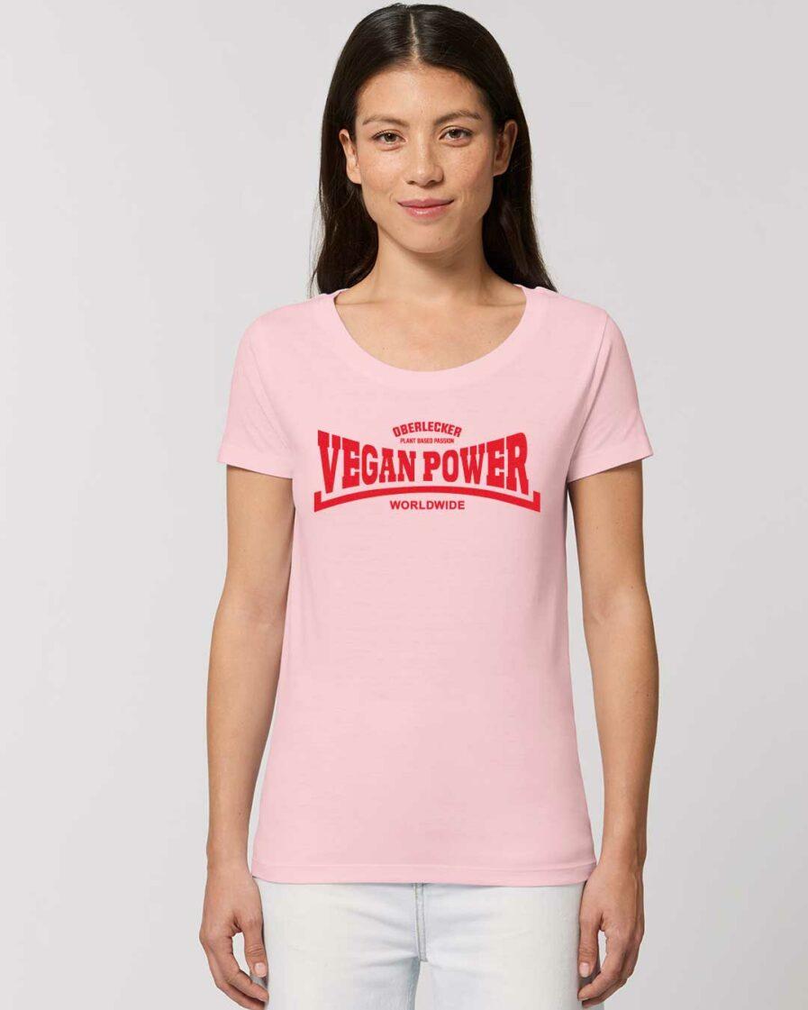 oberlecker-vegan-power-hier-kocht-alex-tailliertes-organic-shirt-rosa
