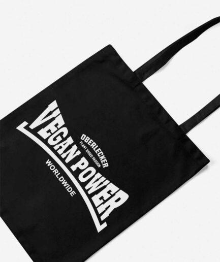 oberlecker-vegan-power-organic-baumwolltasche-schwarz