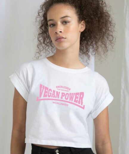 oberlecker-vegan-power-organic-croptop-weiss