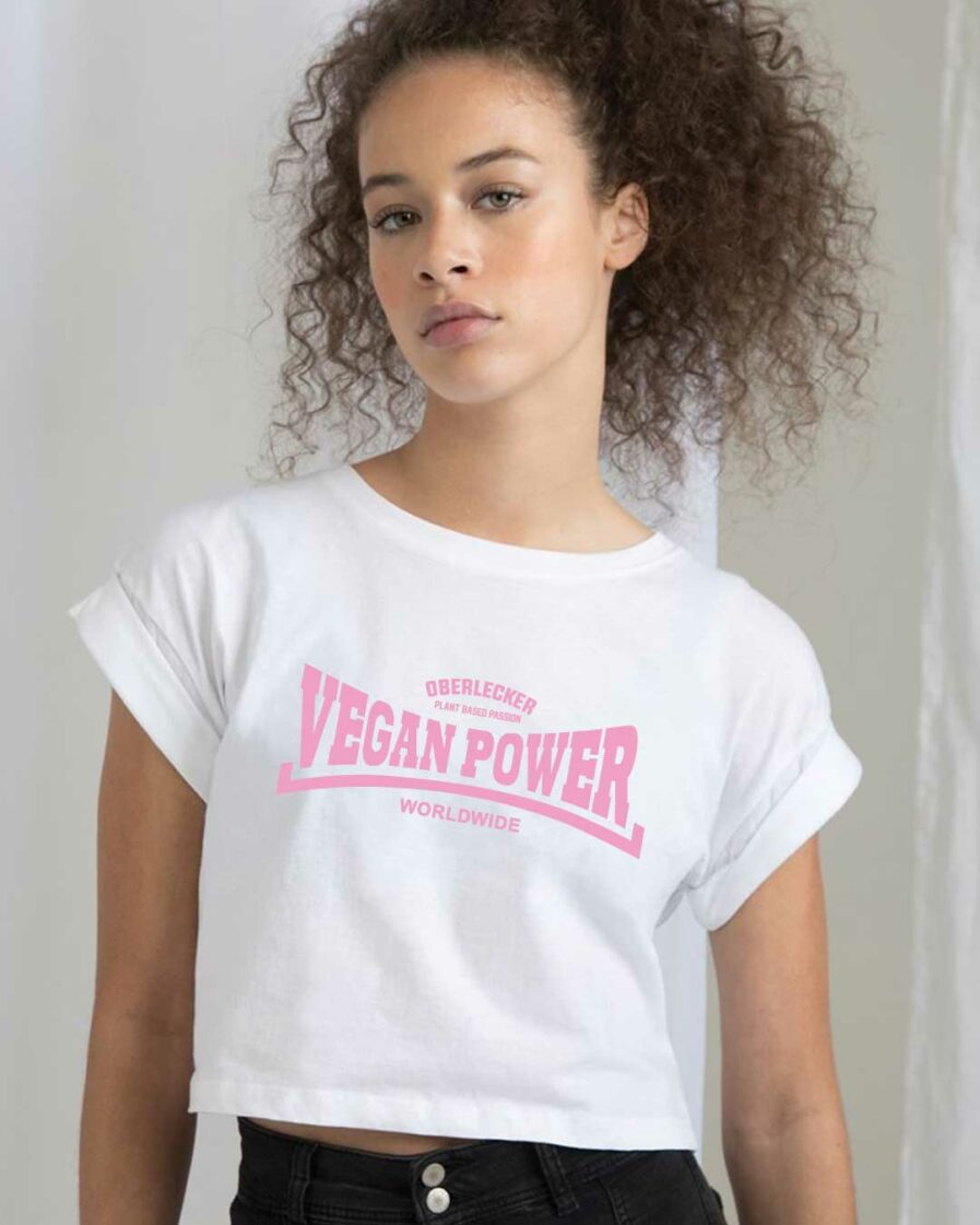 oberlecker-vegan-power-organic-croptop-weiss