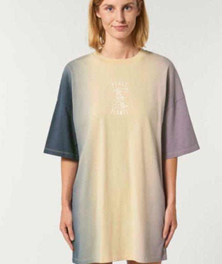 peace-and-plants-oversized-organic-t-shirt-kleid-dip-dye-detail