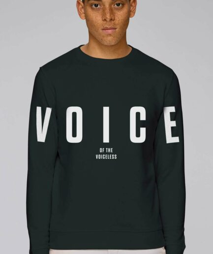 voice-of-the-voiceless-organic-sweatshirt-schwarz