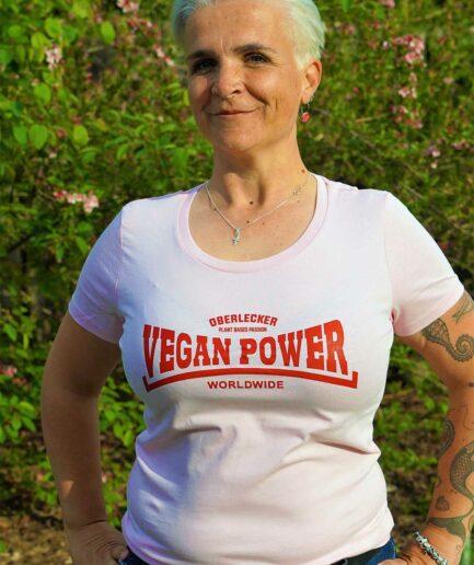 Oberlecker Vegan Power Tailliertes Shirt