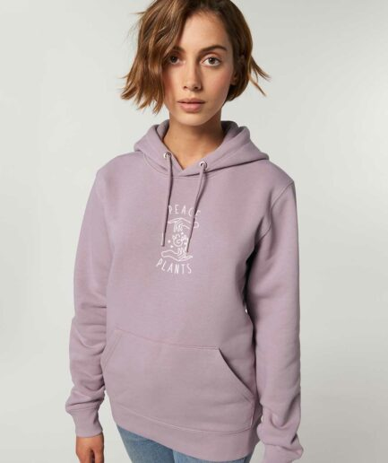 peace-and-plants-organic-hoodie-lila