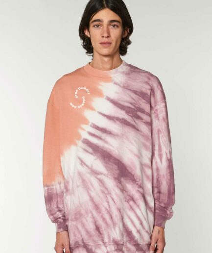 stop climate change tie and dye rosa 2
