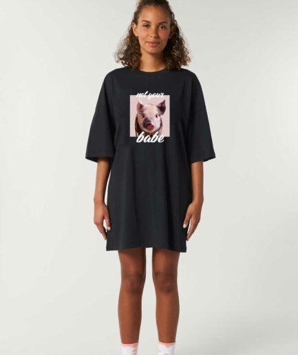 Not Your Babe oversized organic Kleid