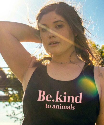 Be kind to animals Organic Tank Top schwarz