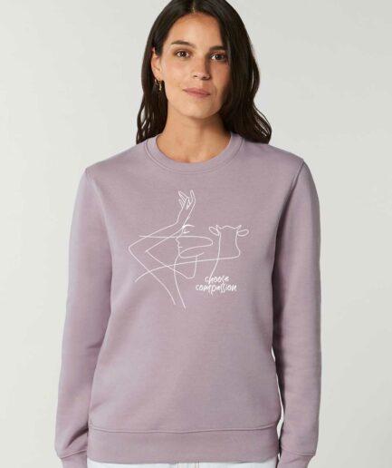 Choose Compassion Organic Sweatshirt Lila