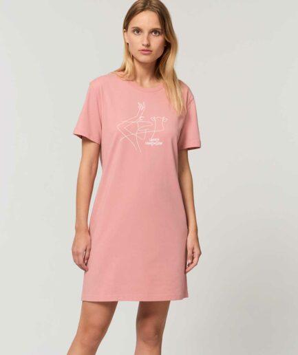 Choose Compassion Organic Shirt Kleid pink