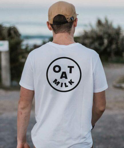 Oat Milk Smiley Organic Shirt Weiss