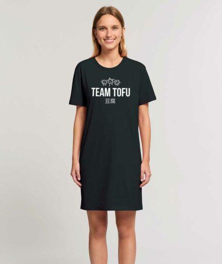 Team Tofu Organic T-Shirt Kleid schwarz