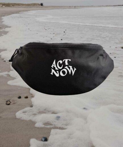 Act now recycelte Bauchtasche schwarz